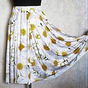 """Одежда ручной работы. Ярмарка Мастеров - ручная работа Юбка """"Ромашки"""" из трикотажа, на резинке. Handmade."""