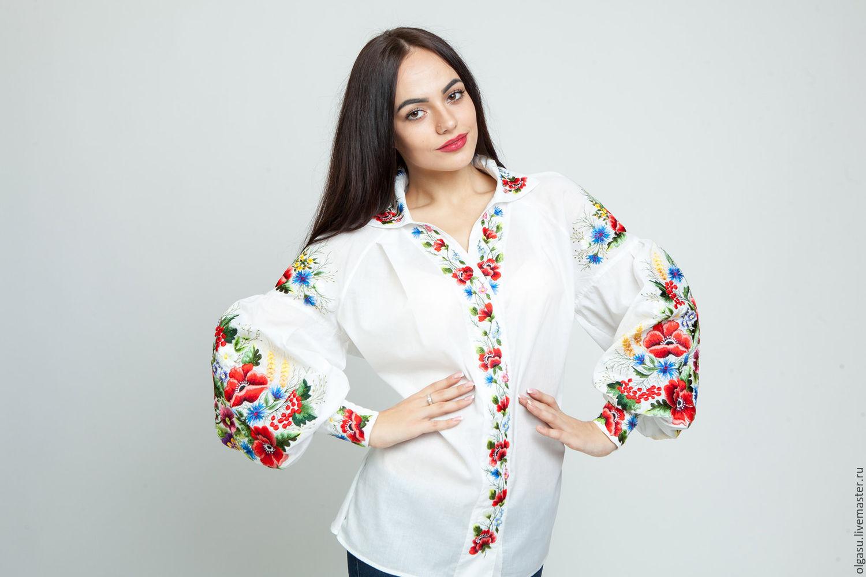 Красивая блузка с цельнокроеными 61