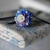 Украшения ручной работы. Ярмарка Мастеров - ручная работа кольцо Бело-голубой фарфор. Handmade.