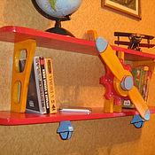 Для дома и интерьера ручной работы. Ярмарка Мастеров - ручная работа Полка-самолет в детскую. Handmade.