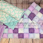 Для дома и интерьера ручной работы. Ярмарка Мастеров - ручная работа Комплект в кроватку для девочки. Handmade.