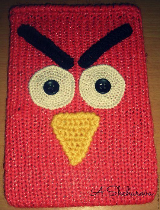 """Футляры, очечники ручной работы. Ярмарка Мастеров - ручная работа. Купить Чехол для планшета """"Angry Birds"""". Handmade. Коралловый"""