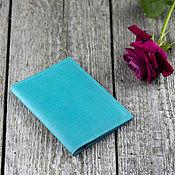 Сумки и аксессуары handmade. Livemaster - original item Leather passport cover in Tiffany color. Handmade.