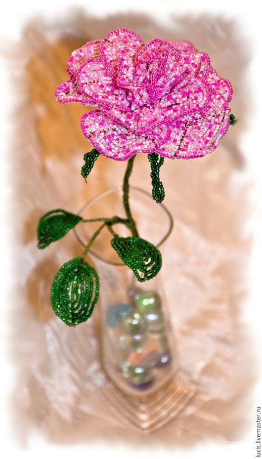 Цветы ручной работы. Ярмарка Мастеров - ручная работа. Купить Роза из бисера. Handmade. Комбинированный, роза из бисера, Праздник, интерьер