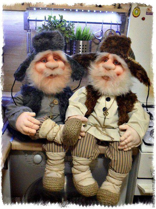 Коллекционные куклы ручной работы. Ярмарка Мастеров - ручная работа. Купить домовые. Handmade. Бежевый, домовой, капрон, синтепух