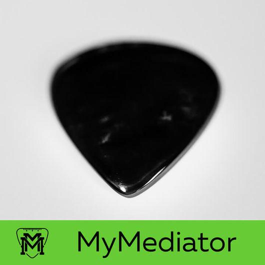 Струнные инструменты ручной работы. Ярмарка Мастеров - ручная работа. Купить Медиатор из черного перламутра Pearl Jazz Dark. Handmade.