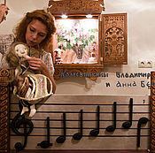 Куклы и игрушки handmade. Livemaster - original item Notes & key wooden stave Music. Handmade.