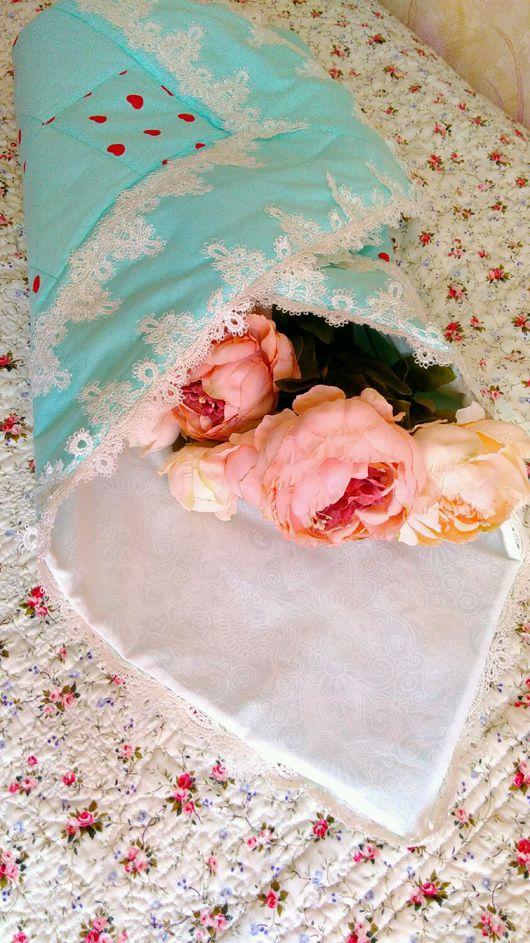 """Для новорожденных, ручной работы. Ярмарка Мастеров - ручная работа. Купить Конверт-одеялко на выписку """"Ажурное"""" летнее. Handmade. Одеялко"""