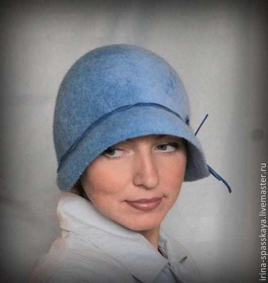 """Шляпы ручной работы. Ярмарка Мастеров - ручная работа. Купить Клош """"Голубая куропатка"""". Handmade. Голубой, ручная работа"""