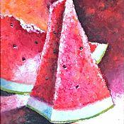 Картины и панно handmade. Livemaster - original item Pictures: Sugar watermelon. Handmade.