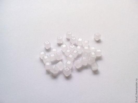 Для украшений ручной работы. Ярмарка Мастеров - ручная работа. Купить Бусина куб белый, 3 мм (10шт). Handmade.