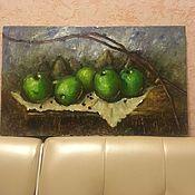 Картины ручной работы. Ярмарка Мастеров - ручная работа Яблоки. Handmade.