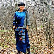 Одежда ручной работы. Ярмарка Мастеров - ручная работа Копия работы. Костюм женский из джинса с вышивкой (№212). Handmade.
