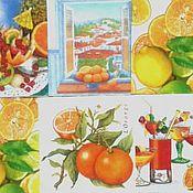 """Материалы для творчества ручной работы. Ярмарка Мастеров - ручная работа """"Апельсины и лимоны"""" набор салфеток для декупажа 10 шт.. Handmade."""