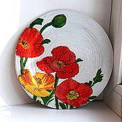 """Для дома и интерьера ручной работы. Ярмарка Мастеров - ручная работа Тарелка 23 см  интерьерная """"Маки"""". Handmade."""