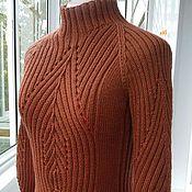 Одежда ручной работы. Ярмарка Мастеров - ручная работа Терракотовый свитер-водолазка. Handmade.