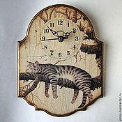 """Для дома и интерьера ручной работы. Ярмарка Мастеров - ручная работа Часы """"Сторож"""". Handmade."""