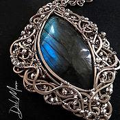 Украшения handmade. Livemaster - original item Pendant with a stone labradorite melchior