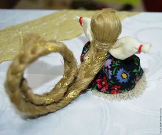 Народные куклы ручной работы, Кукла-оберег с большой косой. Славянский оберег, куколка на счастье, русский сувенир, подарок девушке, подарок,  купить куколку на счастье, русский сувенир, куклы-обереги