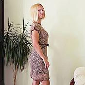 Одежда ручной работы. Ярмарка Мастеров - ручная работа Коктейльное вязаное платье. Handmade.