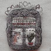 Украшения ручной работы. Ярмарка Мастеров - ручная работа Брошь текстильная Окно с кактусом. Handmade.