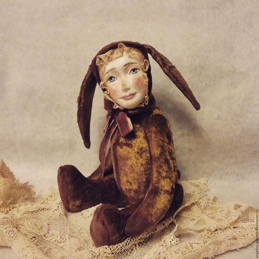 Мишки Тедди ручной работы. Ярмарка Мастеров - ручная работа. Купить Авторская кукла тедди долл Аришенька. Handmade. Золотой