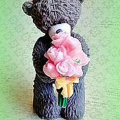 Косметика ручной работы. Ярмарка Мастеров - ручная работа Мыло Мишка  с букетом роз. Handmade.
