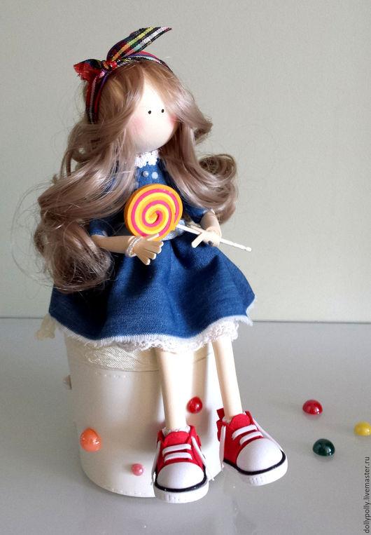 Коллекционные куклы ручной работы. Ярмарка Мастеров - ручная работа. Купить Карамелька. Handmade. Синий, подарок на любой случай, шкатулка