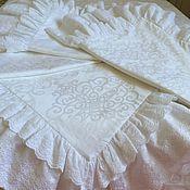 Для дома и интерьера handmade. Livemaster - original item Set of SATIN-JACQUARD cambric embroidery
