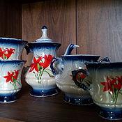 Винтаж handmade. Livemaster - original item Vintage tea sets: tea set. Handmade.