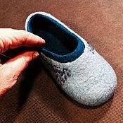 Обувь ручной работы. Ярмарка Мастеров - ручная работа Детские полные тапочки валяные. Handmade.