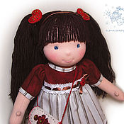 Куклы и игрушки ручной работы. Ярмарка Мастеров - ручная работа вальдорфская кукла Елочка. Handmade.