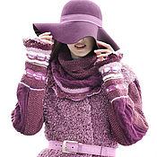 """Одежда ручной работы. Ярмарка Мастеров - ручная работа Вязаное пальто в этно стиле """"Сливовый микс"""". Handmade."""