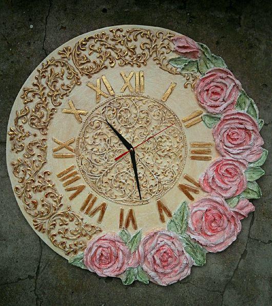 """Часы для дома ручной работы. Ярмарка Мастеров - ручная работа. Купить Часы """"Рококо"""". Handmade. Часы, рококо, Декоративная штукатурка"""