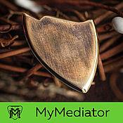 Музыкальные инструменты handmade. Livemaster - original item Alpha Shred Brass Pick. Handmade.