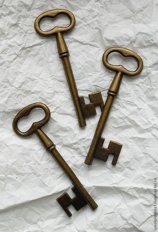 Куклы и игрушки ручной работы. Ярмарка Мастеров - ручная работа. Купить Ключ большой. Handmade. Подвеска металлическая, большой ключ, ключ для куклы