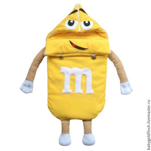 """Для новорожденных, ручной работы. Ярмарка Мастеров - ручная работа. Купить Конверт на выписку и в коляску для новорожденного """"Желтый"""". Handmade. Желтый"""