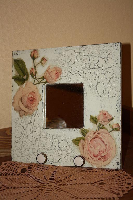 """Прихожая ручной работы. Ярмарка Мастеров - ручная работа. Купить Зеркало-вешалка """" Розы"""". Handmade. Зеркало, вешалка, дерево"""