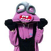 Одежда handmade. Livemaster - original item Costume kigurumi Minion Kevin MINION KEVIN FUNKY VIOLET KIGU. Handmade.