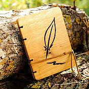 Канцелярские товары ручной работы. Ярмарка Мастеров - ручная работа Дневник с деревяной обложкой /дуб, натуральный финиш. Handmade.