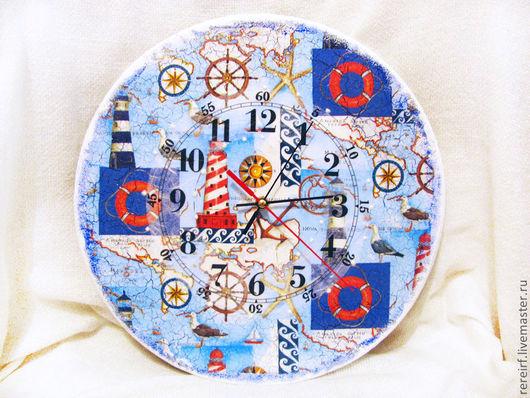 """Часы для дома ручной работы. Ярмарка Мастеров - ручная работа. Купить Часы """"Морское путешествие"""". Handmade. Часы, часы интерьерные"""
