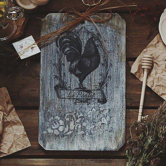 Кухня ручной работы. Ярмарка Мастеров - ручная работа. Купить Доска разделочная в технике декупаж «Le Poulet». Handmade.