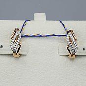 Украшения handmade. Livemaster - original item Gold diamond earrings 0,154 ct. Handmade.