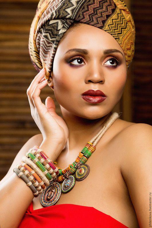 """Колье, бусы ручной работы. Ярмарка Мастеров - ручная работа. Купить Колье """"Моя Африка"""". Handmade. Колье, африканские мотивы"""