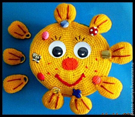 """Развивающие игрушки ручной работы. Ярмарка Мастеров - ручная работа. Купить Развивающая книжка"""".. Handmade. Желтый, развивающие игрушки, солнышко"""