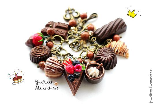 """Браслеты ручной работы. Ярмарка Мастеров - ручная работа. Купить Браслет  """"Chocolate"""" - 2. Handmade. Коричневый, шоколадный торт"""