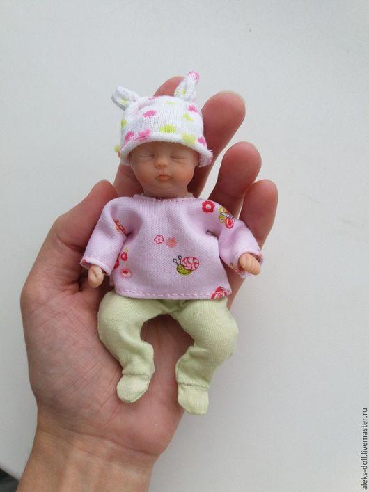 Куклы-младенцы и reborn ручной работы. Ярмарка Мастеров - ручная работа. Купить Крошка Стефания. Handmade. Розовый, бежевый, ооак
