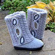 """handmade. Livemaster - original item felt boots, female, hand made  """" Rime"""". Handmade."""