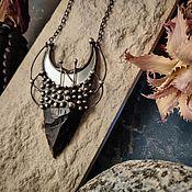 Украшения handmade. Livemaster - original item Obsidian pendant with fleece Galagas. Handmade.