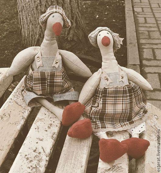 Куклы Тильды ручной работы. Ярмарка Мастеров - ручная работа. Купить Два веселых гуся. Handmade. Игрушка ручной работы